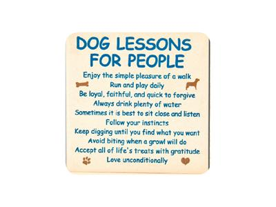 Dog Lessons for People Single Square Coaster 6 pk
