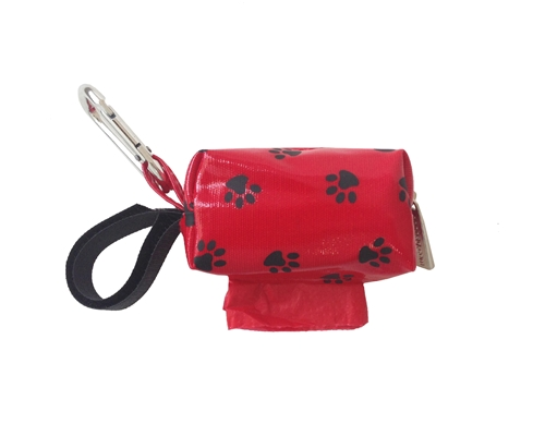 Designer Duffle - Red Paw - Red/Floral - 1 Roll