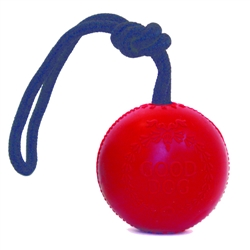Rubber Good Dog Ball w/ Rope