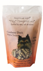 Organic Cranberry Duck Toy Temptations Dog Treats by DogChewz NYC
