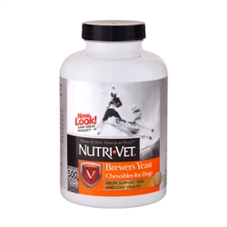 Nutri-Vet Brewers Yeast with Garlic Chewables - 300 ct
