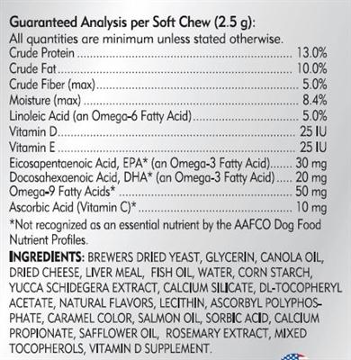 Skin and Coat Soft Chews 60 ct