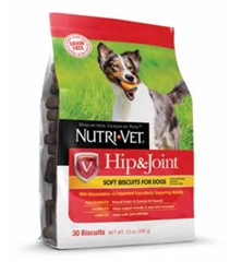 GRAIN FREE Hip & Joint Soft Biscuits for Dogs - 250 mg GS, 250 MSM, 60 mg CS