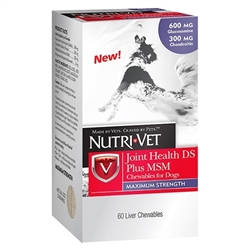 Nutri-Vet Joint Health Plus MSM- 600mg, 300mg CS, 250 mg MSM 60 ct