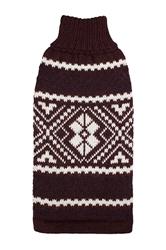 Alqo Wasi Rollneck Alpaca Sweater, Burgandy Glam