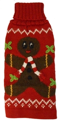 Alqo Wasi Rollneck Alpaca Sweater, Gingerbread Man