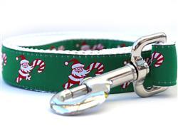 Candy Cane Santa Dog Leash