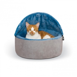 Self-Warming Kitty Bed Hooded™