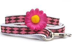 Gerber Daisy Dog Leash - Pink