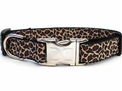 Leaping Leopard Collar Silver Metal Buckles
