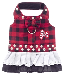 Red Buffalo Plaid Biker Bow Dress