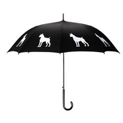 Boxer Umbrella White on Black