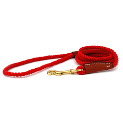 "1/4"" Width Cotton Rope Leash w Snap-End"