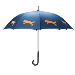 German Shepherd Umbrella Orange on Navy Blue
