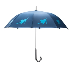 Labrador Retriever Umbrella Light Blue on Navy Blue