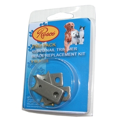 Resco Guillotine-Style DOG & CAT Trimmer Blade Kit (6 blades, 1 pin)