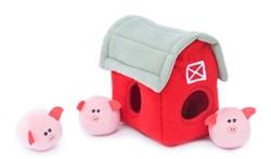 Zippy Paws - Zippy Burrow Barn with Bubble Babiez Pigs