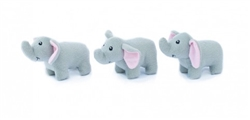 Zippy Paws - Zippy Miniz 3 Pack - Elephants