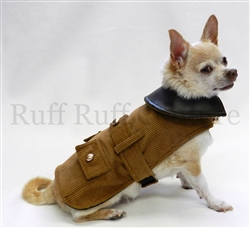 Brown Riding Coat by Ruff Ruff Couture®