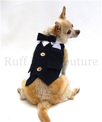 Ethan Navy Corduroy Vest with Gold Buttons by Ruff Ruff Couture®