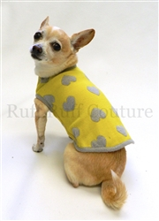 Hearts Yellow and Grey Sweater by Ruff Ruff Couture®