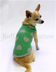 Hearts Green and Grey Sweater by Ruff Ruff Couture®