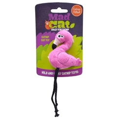 Mad Cat® Flingin' Flamingo -  CAT TOY w/Catnip & Silvervine -  4 Pack 8.00 ($2.00 EACH)