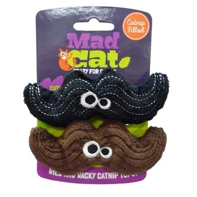 Mad Cat® Magic Meowstache Twin Pack - CAT TOY w/Catnip & Silvervine  4 Pack $14.00 ($3.50 EA)