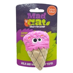 Mad Cat® Strawpurry Ice Cream - CAT TOY w/Catnip & Silvervine 4 Pack $9.00 ($2.25 EA)