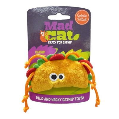 Mad Cat® Tabby Taco - CAT TOY w/Catnip & Silvervine -  4 Pack $9.00 ($2.25 EA)