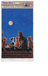 Cats Under A Full Moon Towel