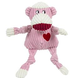 Hugglehounds Plush Durable Corduroy Ms. Sock Monkey Knottie