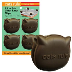 Cats Rule Great Grip Litter Liner Clips - Tan