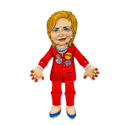 """Hillary Dog Toy - 17"""" Presidential Parody Toys"""