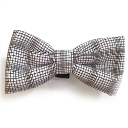 Brown & White Plaid Bowties