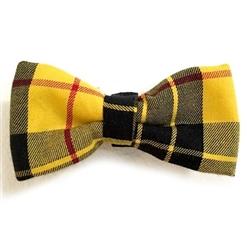 Yellow & Black Plaid Bowties