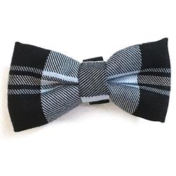 Black & Blue Plaid Bowties