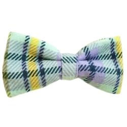 Green & Yellow Plaid Bowties