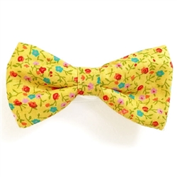 Yellow Flowers Print Bowties