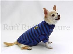 Fleur de lis Blue Stripes Sweater by Ruff Ruff Couture®