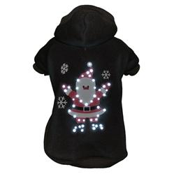 Led Lighting Juggling Santa Pet Hoodie