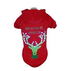 Led Lighting Christmas Reindeer Pet Hoodie