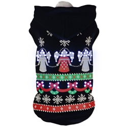 Led Lighting Patterned Holiday Pet Hoodie