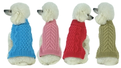 Heavy Cable Knitted Fashion Designer Dog Sweater