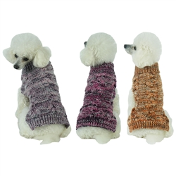 Royal Bark Heavy Cable Knitted Designer Fashion Dog Sweater