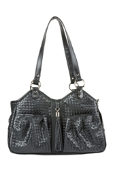 Metro - Black Woven with Tassel