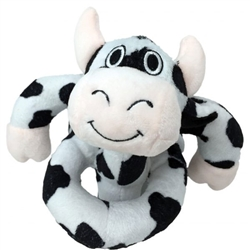 "Medium Black & White Cow Loopies - 8"""