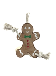 Gingerbread Man Stuffess Rope Toy