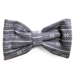 Grey & White Bowties