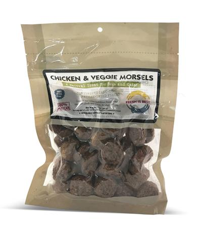 Chicken and Veggie Morsels, 4 oz.
